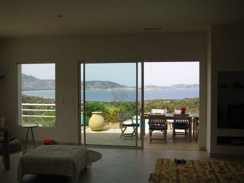 Views from inside the villa
