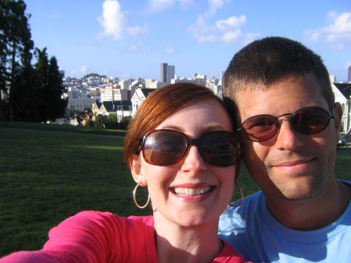 Our first stop in San Francisco -- Alamo Square
