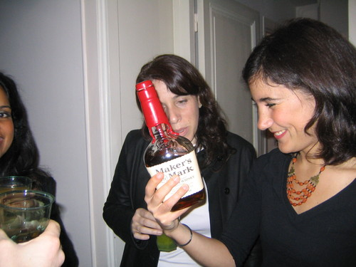 Sophie examining the deadly Maker's Mark